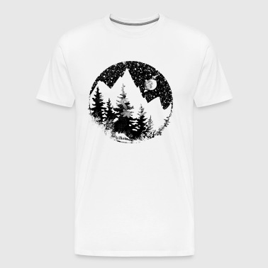 Mountain landscape at night - Men's Premium T-Shirt