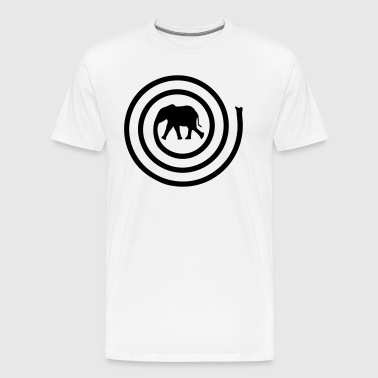 Elephant spiral - Men's Premium T-Shirt