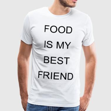 Food is my best friend Geschenk - Männer Premium T-Shirt
