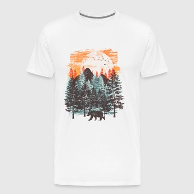 Forest landscape (bear) - Men's Premium T-Shirt