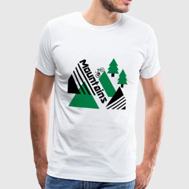 Mountainbike Mountains - Premium-T-shirt herr