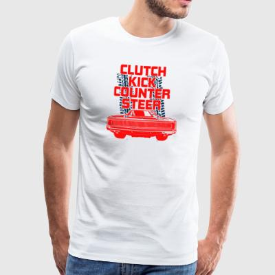 Clutch, Kick, Counter, Steer Tuning Design - Men's Premium T-Shirt