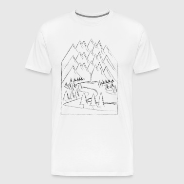 Outdoor mountains nature mountain sports - Men's Premium T-Shirt