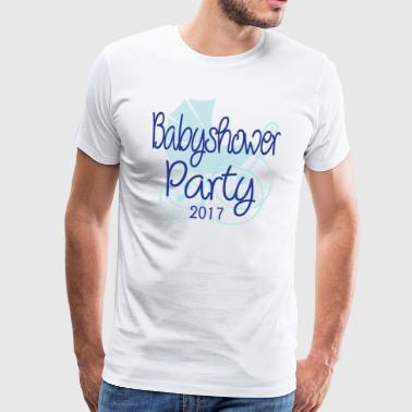 Baby Shower Party 2017 - Men's Premium T-Shirt