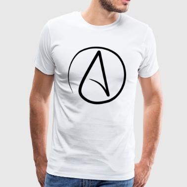 Emblem of atheists - Men's Premium T-Shirt