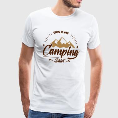 Dit is mijn kampeer shirt - Mannen Premium T-shirt