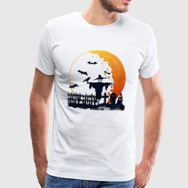Happy Halloween in de maan - Mannen Premium T-shirt