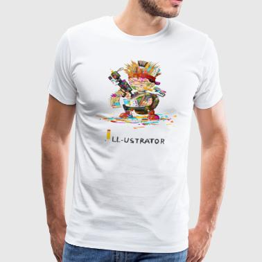 illustrator - Herre premium T-shirt