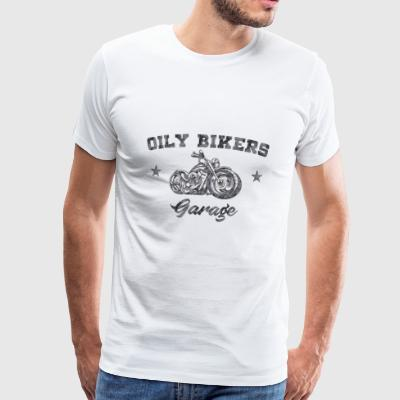 Oily Bikers Garage - Chopper - Premium T-skjorte for menn