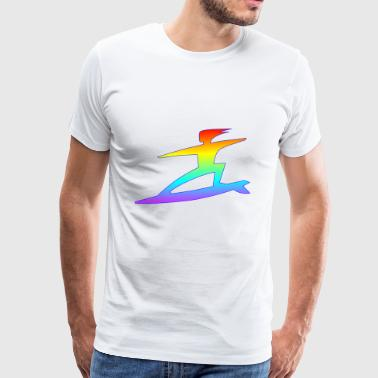 Rainbow Surfer Rainbow Surfer - Men's Premium T-Shirt