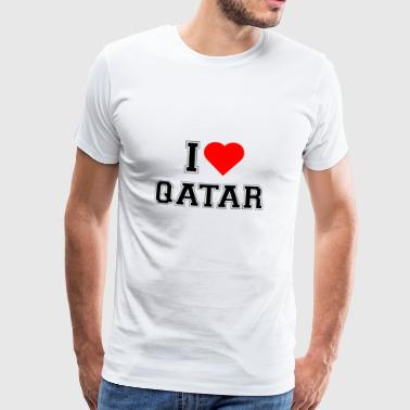 I love Qatar - Men's Premium T-Shirt