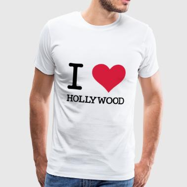 I Love Hollywood - Herre premium T-shirt