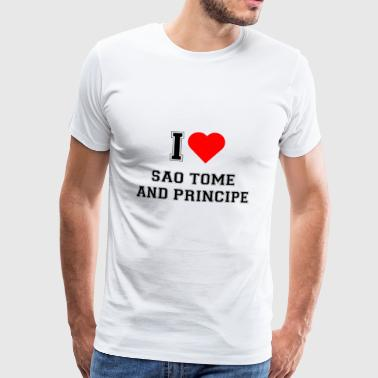 I love Sao Tome and Principe - Männer Premium T-Shirt
