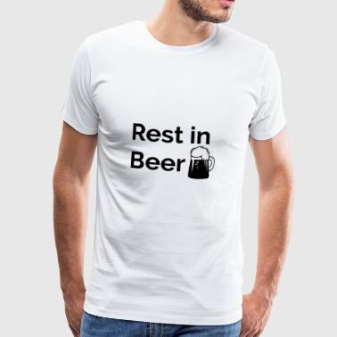Rest in Beer - Mannen Premium T-shirt