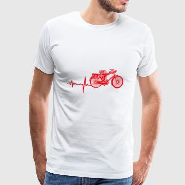 Gift heartbeat electric bike - Men's Premium T-Shirt