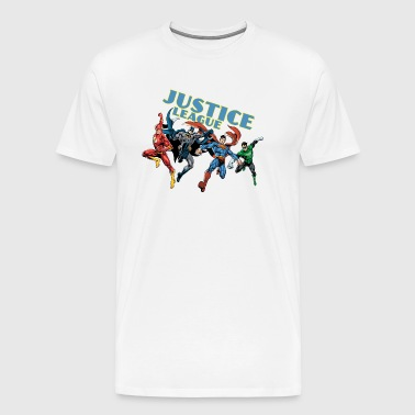 Justice League Character Mix - Premium-T-shirt herr