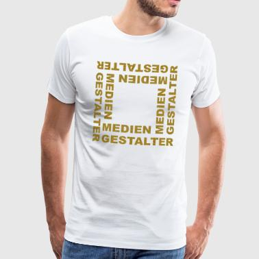 Media Designer Graphic Designer - Men's Premium T-Shirt