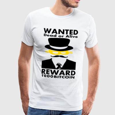 Bitcoin Wanted - Männer Premium T-Shirt