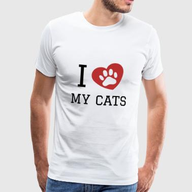 I love my cats gift - Men's Premium T-Shirt