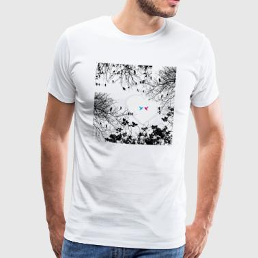 Birds Love (Naturecontest) - Camiseta premium hombre