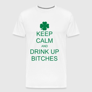keep calm and drink up bitches Bags & Backpacks - Men's Premium T-Shirt