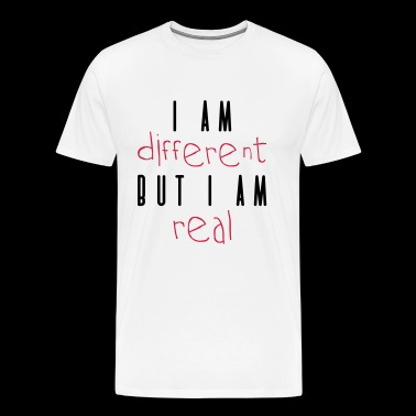DIFFERENT BUT REAL - Men's Premium T-Shirt