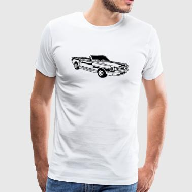 Convertible / Muscle Car 02_black - Men's Premium T-Shirt