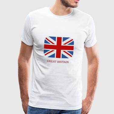 Great Britain flag - Premium T-skjorte for menn