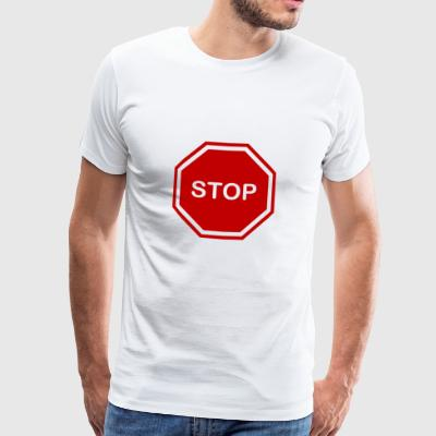 stop sign - Men's Premium T-Shirt