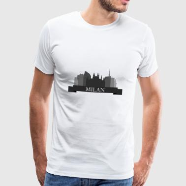 Milan skyline - Men's Premium T-Shirt