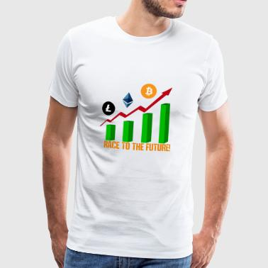 race to the future btc - Camiseta premium hombre