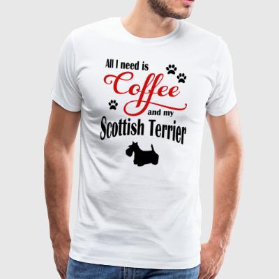 Skotsk terrier Coffee - Premium-T-shirt herr