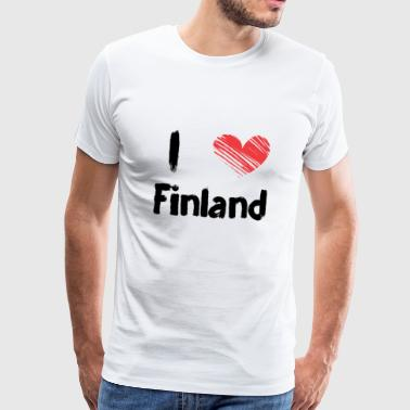 I love Finland - Men's Premium T-Shirt