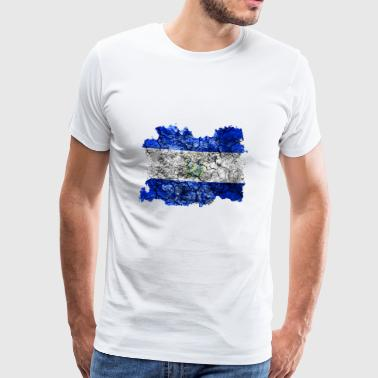 El Salvador vintage flag - Men's Premium T-Shirt
