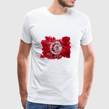 Tunisia vintage flag - Men's Premium T-Shirt