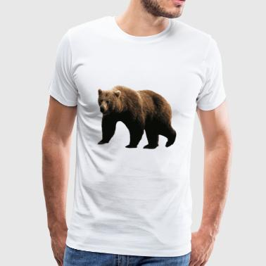 Ours Brun - T-shirt Premium Homme