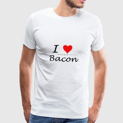 I Love Bacon - Männer Premium T-Shirt