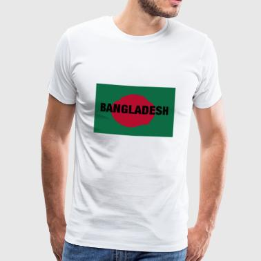 The Bangladesh Flag - Centered Black Text - Herre premium T-shirt
