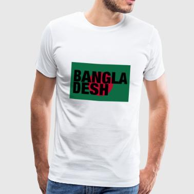 Bangladesh Flag - Front Black Text - Herre premium T-shirt