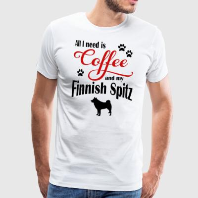 Finnish Spitz Coffee - Men's Premium T-Shirt
