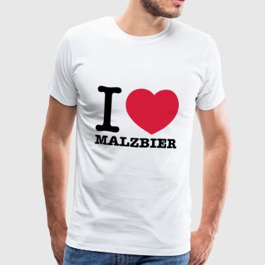 I love malt beer - Men's Premium T-Shirt