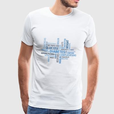 diabetes - Premium-T-shirt herr
