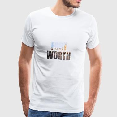 FORT WORTH TEXAS USA - Herre premium T-shirt