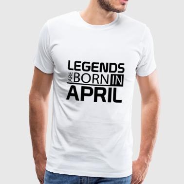 April - Herre premium T-shirt