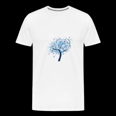A tree with leaves of ice crystals - Men's Premium T-Shirt