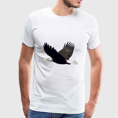 Sea Eagle águila animal animales aves Voegel - Camiseta premium hombre