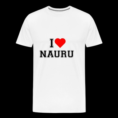 I love Nauru - Men's Premium T-Shirt