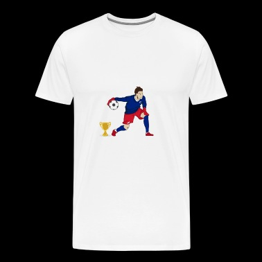 World Cup England målmand - Herre premium T-shirt