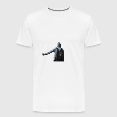 hitchhiking - man - Men's Premium T-Shirt