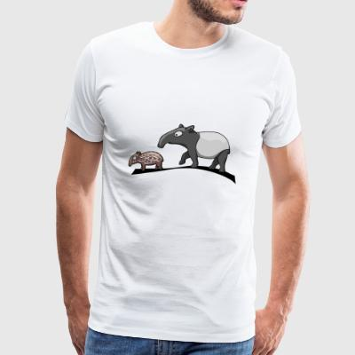Tapir family cartoon comic animal gift - Men's Premium T-Shirt